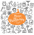 template halloween happy card or banner vector image vector image