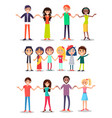 togetherness concept poster with happy man woman vector image
