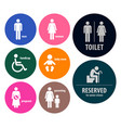 toilet signs restroom signboards a set toilet vector image vector image