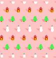 trendy christmas pattern xmas winter decoration vector image vector image