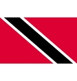 Trinidad and Tobago flag in correct size colors vector image vector image