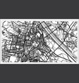 vienna austria map in black and white color vector image vector image