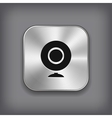 Webcamera icon - metal app button vector image vector image