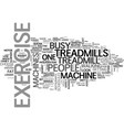 why choose treadmills over other exercise vector image vector image