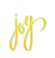 word joy lettering vector image vector image