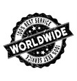 world best service stamp with grunge texture vector image vector image