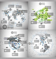 World maps set infographic templates for business vector image vector image