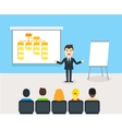 Businessman talking about structure of company vector image