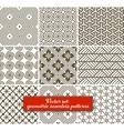 set 9 geometric seamless patterns vector image