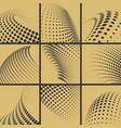 halftone dots effect background set vector image