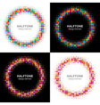 Set of Colorful Bright Halftone Circles logo vector image