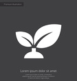 plant premium icon white on dark background vector image