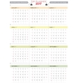 2017 DIY Calendar Planner Design Week starts from vector image vector image
