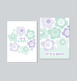 baby style floral card template in pastel color vector image