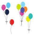 balloons isolated clip art on white vector image vector image