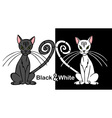 Black and white cat vector image vector image