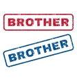 Brother Rubber Stamps vector image vector image