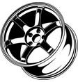 car wheel 5 vector image vector image