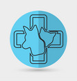 cat and dog veterinarian clinic symbol vector image