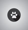 Cat footprint symbol flat vector image vector image