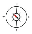 compass icon logo template vector image vector image