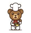 cooking cute bear mascot design vector image vector image
