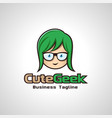 cute geek image vector image