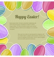 Decorative card with colorful Easter eggs eps10 vector image vector image