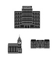 design of building and front logo vector image