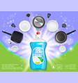 dishwashing advertising realistic template vector image