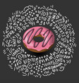donut icon in cartoon style colorful delicious vector image