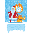 Dragon Santa vector image