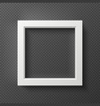 empty square white 3d wall frame for creative vector image vector image