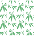 Eucalyptus Seamless pattern vector image vector image