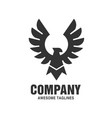 Falcon eagle bird logo black color