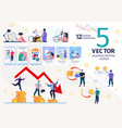 financial audit and strategy concepts set vector image vector image