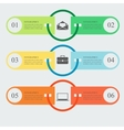 Flat infographic template vector image vector image
