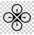 fly drone icon vector image vector image