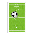 Football field and ball Soccer game Game ball high vector image vector image