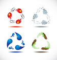 Four elements of nature vector image vector image