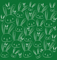 funny easter drawing holiday rabbits set vector image