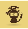 global economy isolated icon design vector image
