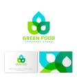 green food logo grossery identity vector image