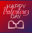 happy valentines day pink golden and fluid 3d vector image