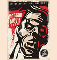 horror movie show cinema poster vector image vector image