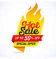 hot sale banner special offer up to 50 off vector image vector image
