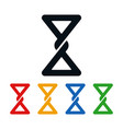hourglass icons bow tie shaped symbols vector image