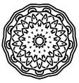 indian mandala design vector image