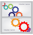 Industrial banner background concept vector image vector image