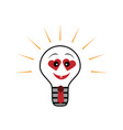 light bulb symbol of heart symbol of vector image